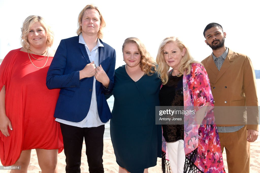 Bridget Everett, Geremy Jasper, Danielle Macdonald, Cathy Moriarty, and Siddharth Dhananjay attend the 'Patti Cake$' Photocall during the 70th annual Cannes Film Festival at Palais des Festivals on May 26, 2017 in Cannes, France.