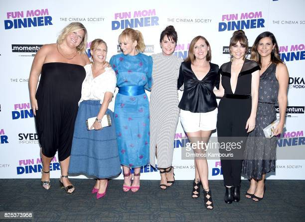 Bridget Everett Naomi Scott Toni Collette Katie Aselton Molly Shannon Alethea Jones and Julie Rudd attend the screening Of 'Fun Mom Dinner' at...