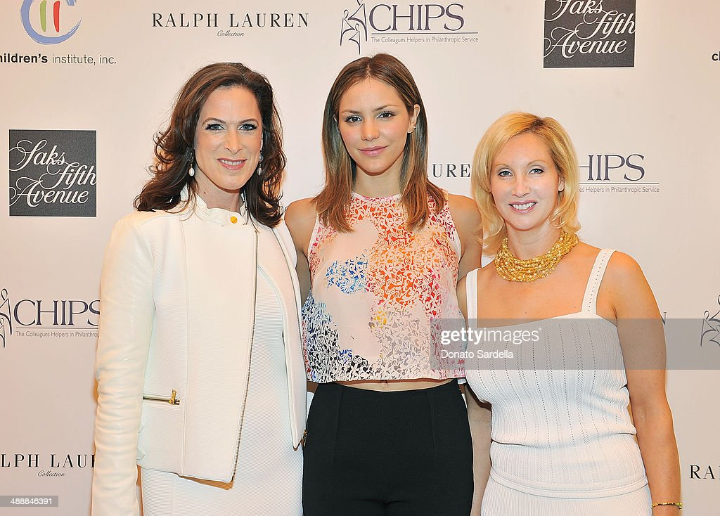 Bridget Gless Keller, <a gi-track='captionPersonalityLinkClicked' href=/galleries/search?phrase=Katharine+McPhee&family=editorial&specificpeople=581492 ng-click='$event.stopPropagation()'>Katharine McPhee</a>, and Marni Pozil, C.H.I.P.S. President attend C.H.I.P.S Colleagues Helpers in Philanthropic Service Children's Institute annual charity luncheon at The Four Seasons Hotel on May 8, 2014 in Beverly Hills, California.