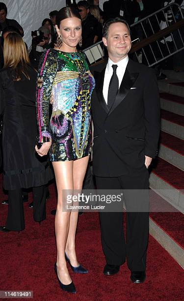 Bridget Hall and guest during 'Poiret King of Fashion' Costume Institute Gala at The Metropolitan Museum of Art Arrivals at Metropolitan Museum of...