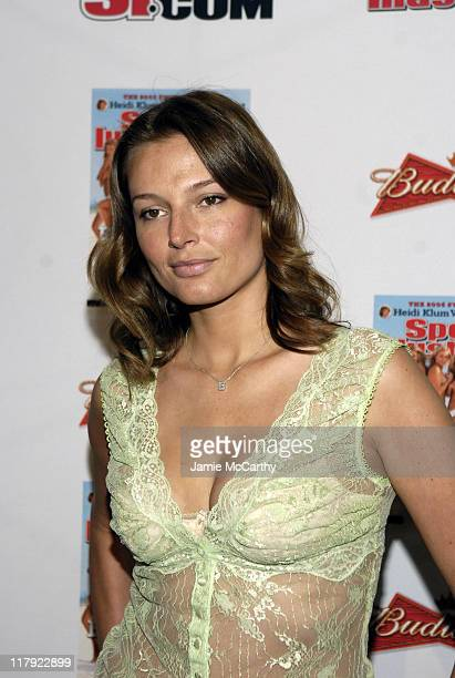 Bridget Hall during 2006 Sports Illustrated Swimsuit Issue Press Conference at Crobar in New York City New York United States