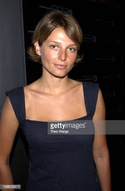 Bridget Hall during Jordan Two3 Fashion Show in Manhattan at Chelsea Piers in New York City New York United States