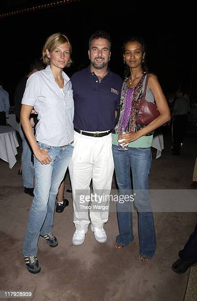 Bridget Hall Jack Lascherer President of Tennis Magazine and Liya Kebede