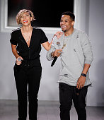 Bridget Kelly and Mack Wilds perform during Angela Simmons Presents Foofi and Harlem Globetrotters 90th Anniversary Collection at KIA STYLE360 on...