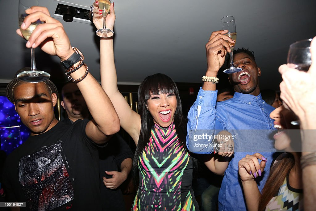 Bridget Kelly (C) attends Bridget Kelly's Birthday Celebration at the 40 / 40 Club on April 9, 2013 in New York City.