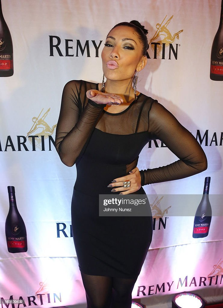 Bridget Kelly attends the Remy Martin V.S.O.P Ringleader Culmination Event with Robin Thicke at Marquee on March 4, 2013 in New York City.