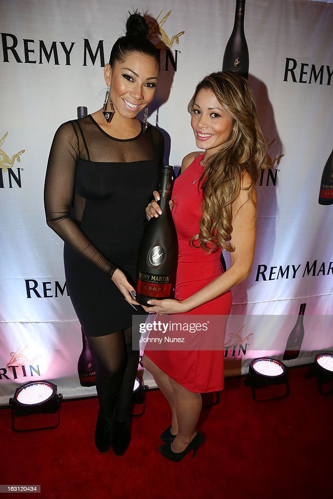 Bridget Kelly (L) attends the Remy Martin V.S.O.P Ringleader Culmination Event with Robin Thicke at Marquee on March 4, 2013 in New York City.