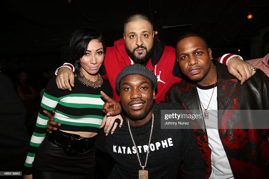 Bridget Kelly, <a gi-track='captionPersonalityLinkClicked' href=/galleries/search?phrase=DJ+Khaled&family=editorial&specificpeople=577862 ng-click='$event.stopPropagation()'>DJ Khaled</a>, AZ, and <a gi-track='captionPersonalityLinkClicked' href=/galleries/search?phrase=Meek+Mill&family=editorial&specificpeople=7187702 ng-click='$event.stopPropagation()'>Meek Mill</a> attend the 7th Annual Friday Night Lights event at Hudson Hotel on January 31, 2014 in New York City.