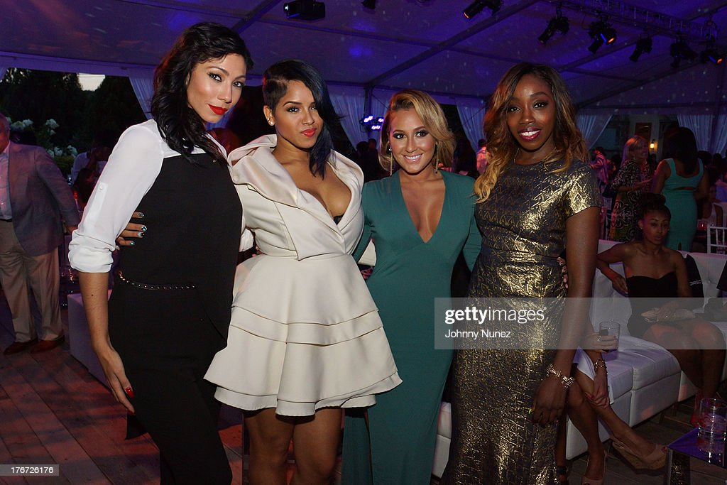 Bridget Kelly, RaVaughn, <a gi-track='captionPersonalityLinkClicked' href=/galleries/search?phrase=Adrienne+Bailon&family=editorial&specificpeople=540286 ng-click='$event.stopPropagation()'>Adrienne Bailon</a>, and Estelle attend the 2nd annual Compound Foundation Fostering A Legacy Benefit on August 17, 2013 in East Hampton, New York.