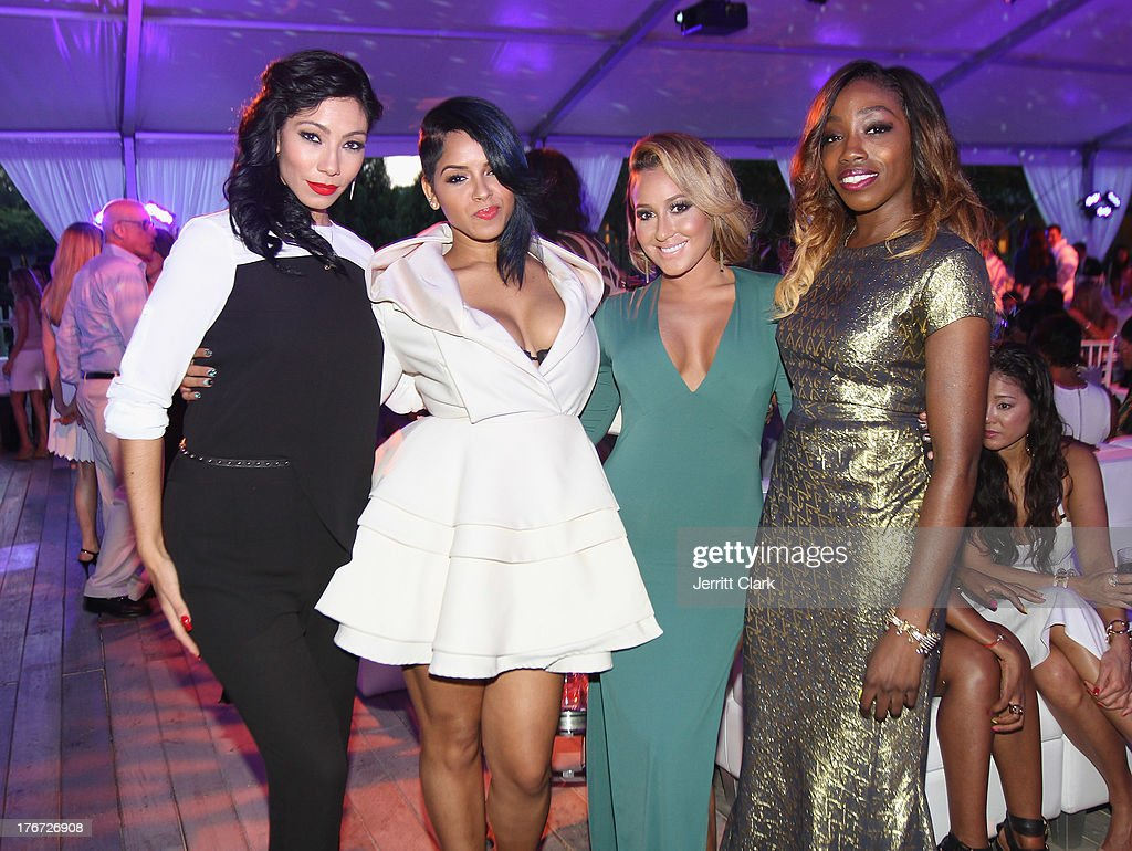 Bridget Kelly, Ravaughn Brown, <a gi-track='captionPersonalityLinkClicked' href=/galleries/search?phrase=Adrienne+Bailon&family=editorial&specificpeople=540286 ng-click='$event.stopPropagation()'>Adrienne Bailon</a> and Estelle attend the 2nd annual Compound Foundation Fostering A Legacy Benefit on August 17, 2013 in East Hampton, New York.