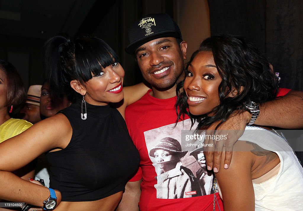 Bridget Kelly, Ryan Press, and Brandy Norwood attend the Essence Day party at the W New Orleans on July 6, 2013 in New Orleans, Louisiana.