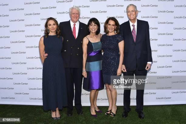 Bridget Koch Bill Koch Debora Spar and Katherine Farley and David H Koch attend the Lincoln Center Spring Gala at Alice Tully Hall on May 2 2017 in...