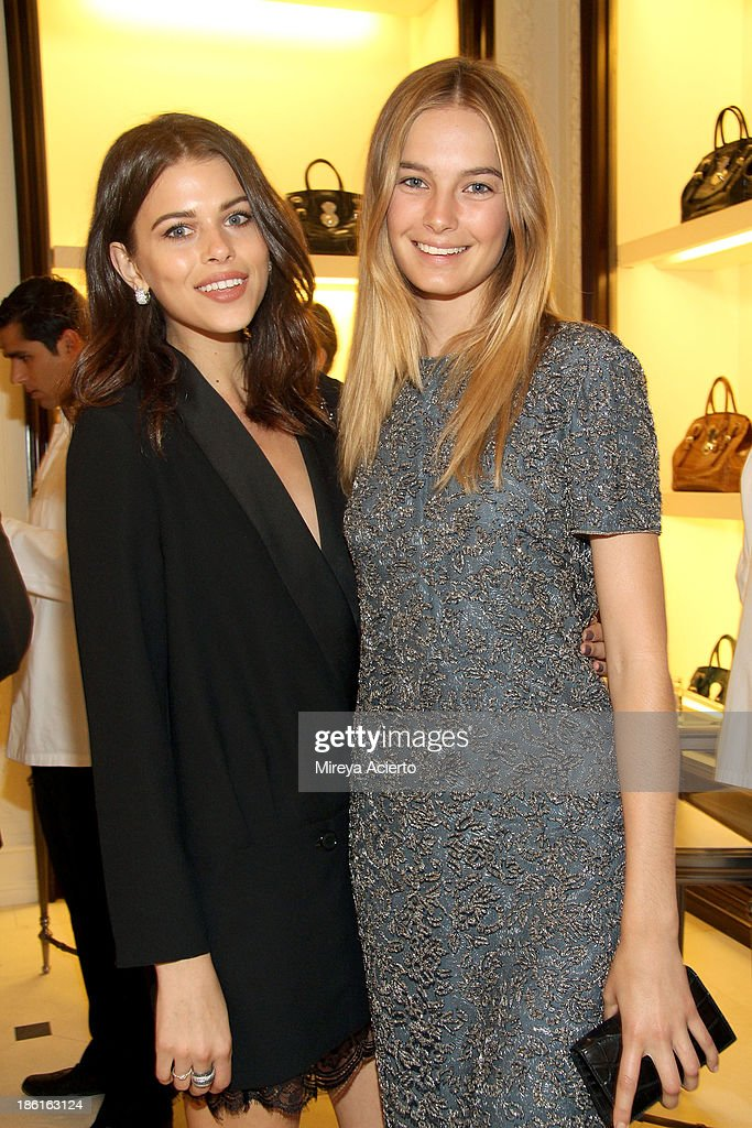 Bridget Malcolm and Georgia Fowler arrive as Ralph Lauren Presents Exclusive Screening Of Hitchcock's To Catch A Thief Celebrating The Princess Grace Foundation at MoMA on October 28, 2013 in New York City.