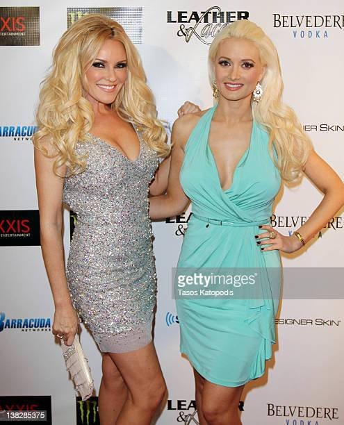 Bridget Marquardt and Holly Madison attends the Ninth Annual Leather and Laces event at the Regions Bank Tower on February 4 2012 in Indianapolis...