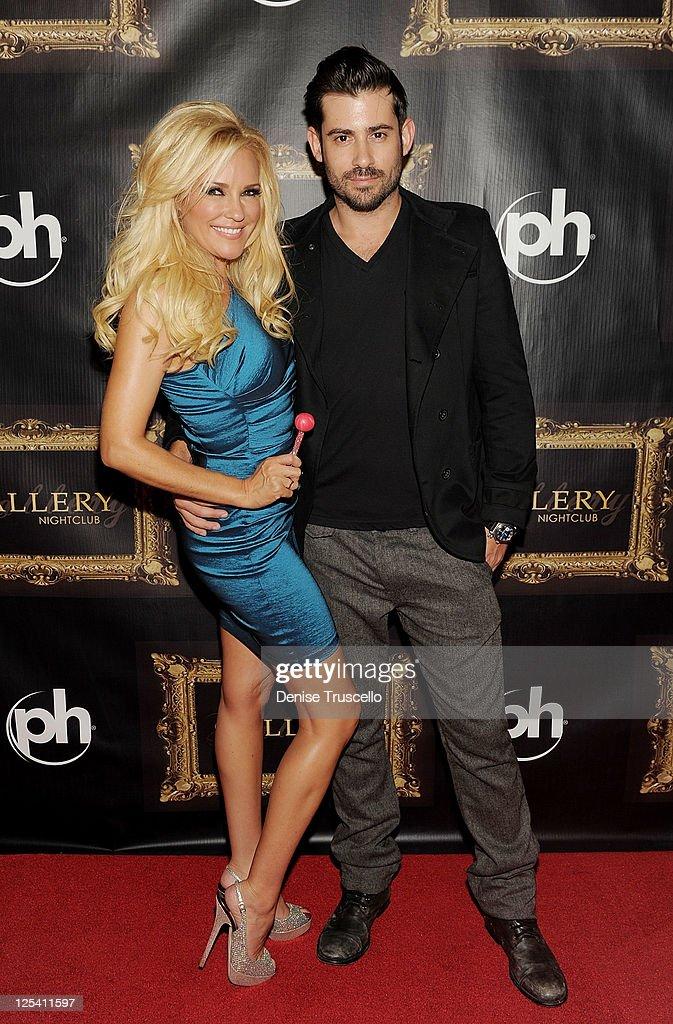Bridget Marquardt and Nick Carpenter arrive for her birthday celebration at Gallery Nightclub at Planet Hollywood Resort & Casino on September 16, 2011 in Las Vegas, Nevada.