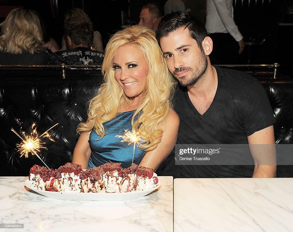 Bridget Marquardt and Nick Carpenter dine at Sugar Factory American Brasserie at Paris Las Vegas on September 16, 2011 in Las Vegas, Nevada.