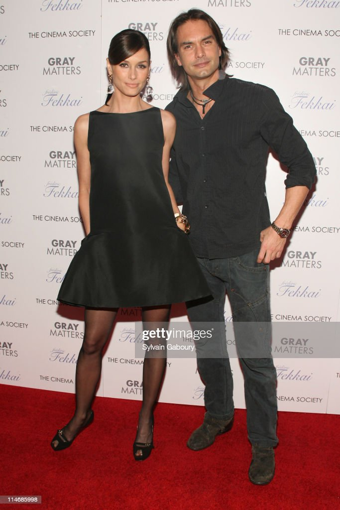 Bridget Moynahan and Marcus Schenkenberg during The Cinema Society and Frederic Fekkai Host a Screening for 'Gray Matters' Arrivals at IFC Film...