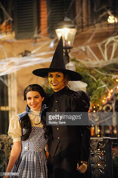 Bridget Moynahan and Sami Gayle on location for 'Blue Bloods' filming a Halloween scene on September 27 2012 in New York City