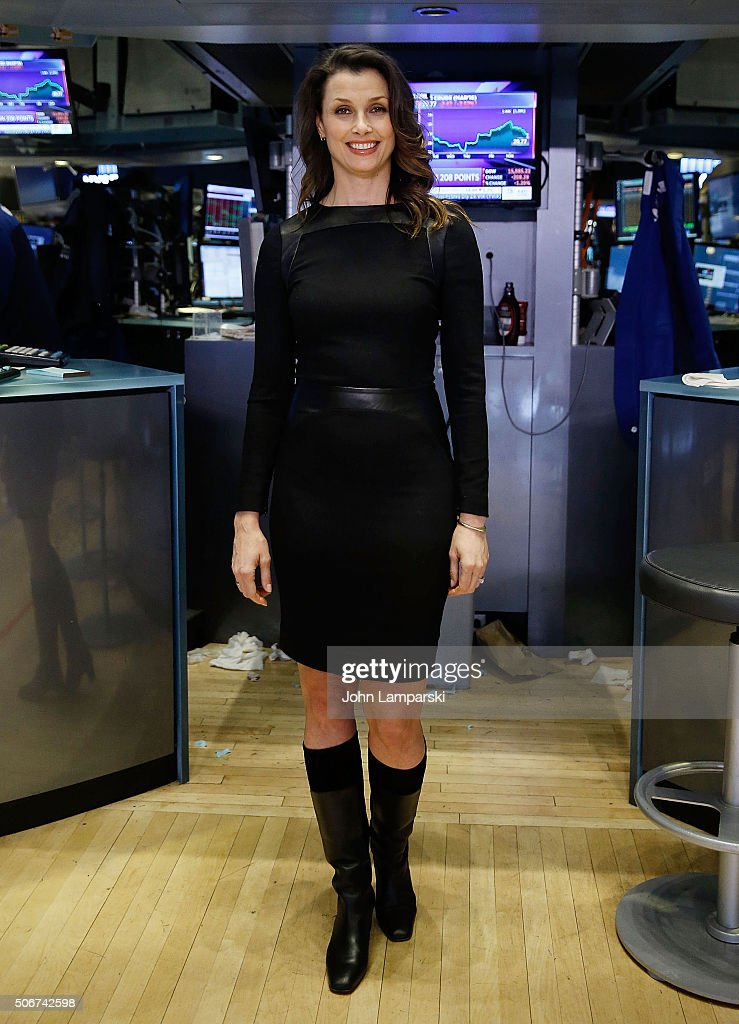 Bridget Moynahan And The Hole In The Wall Gang Camp Ring New York Stock Exchange Closing Bell