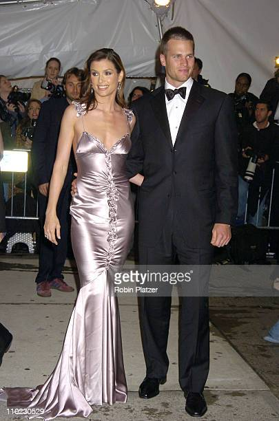 Bridget Moynahan and Tom Brady during The Costume Institute's Gala Celebrating 'Chanel' at The Metropolitan Museum of Art in New York City New York...