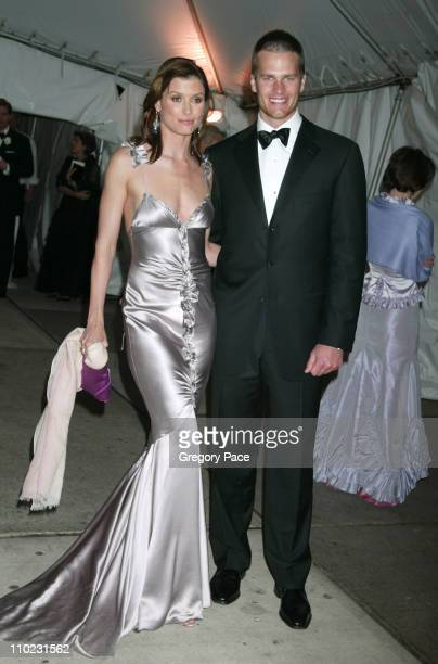 Bridget Moynahan and Tom Brady during The Costume Institute's Gala Celebrating 'Chanel' Departures at The Metropolitan Museum of Art in New York City...