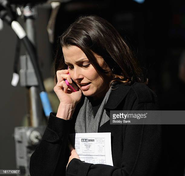 Bridget Moynahan filming on location for 'Blue Bloods' on February 14 2013 in New York City