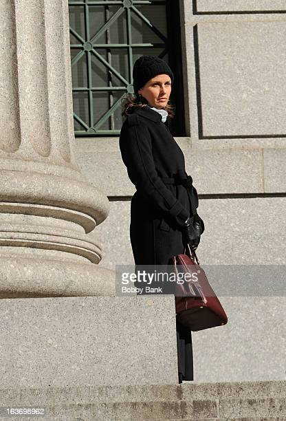 Bridget Moynahan filming on location for 'Blue Bloods' on March 14 2013 in New York City