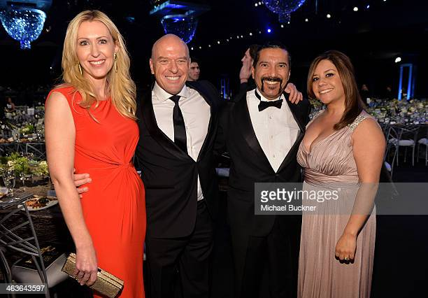 Bridget Norris Dean Norris Steven Michael Quezada and Cherise Desiree Quezada in the audience during 20th Annual Screen Actors Guild Awards at The...