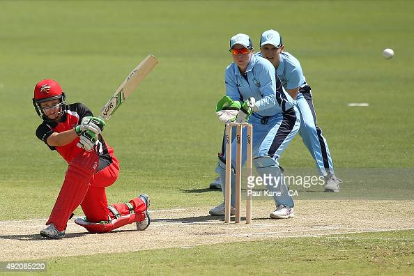 Bridget Patterson of South Australia bats during the round one WNCL match between New South Wales and South Australia at WACA on October 10 2015 in...