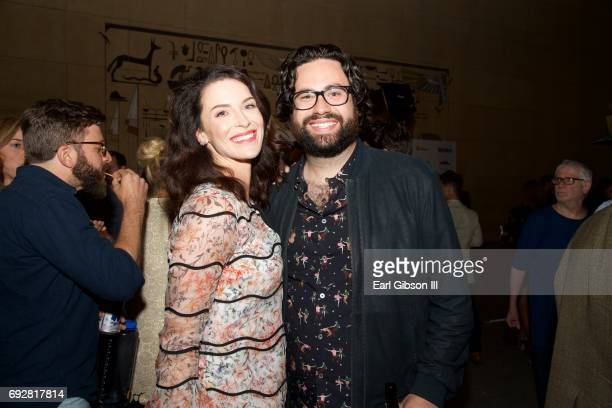 Bridget Regan and Brett Haley attend the Premiere Of The Orchard's 'The Hero' After Party on June 5 2017 in Hollywood California