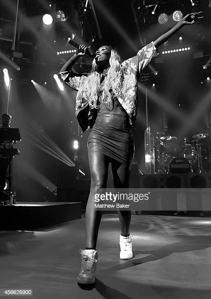 Bridgette Amofah of Rudimental performs as part of the iTunes Festival at The Roundhouse on September 20 2014 in London England