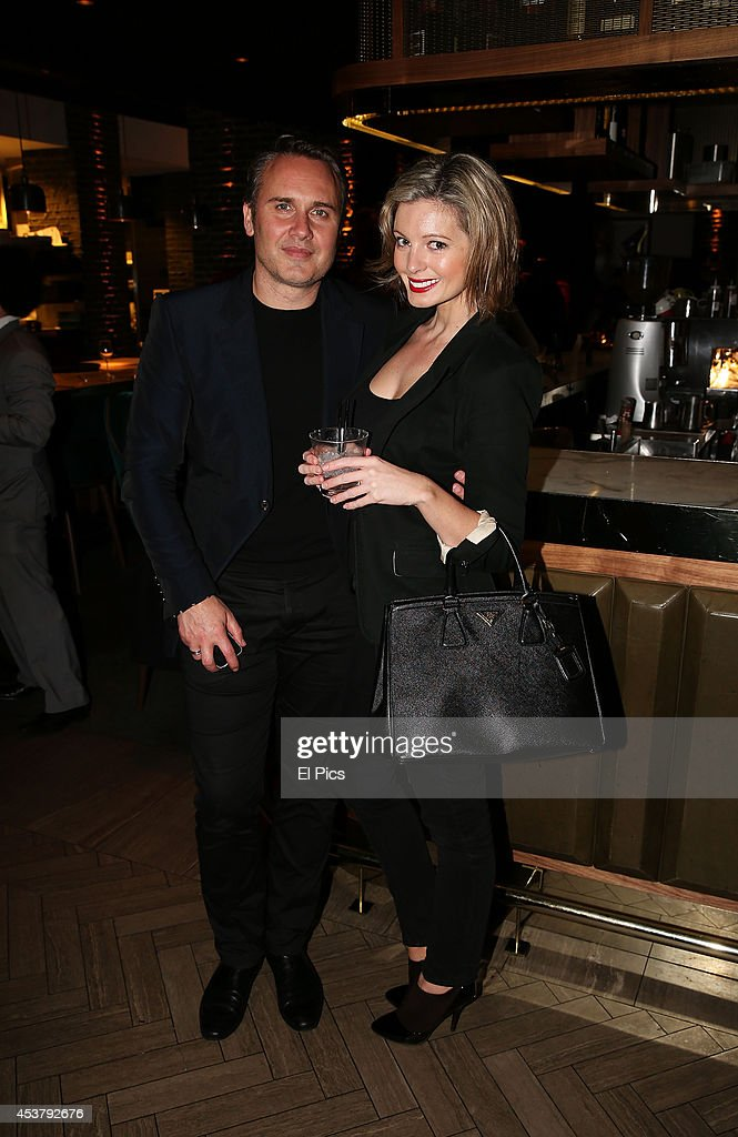Bridgette Kirk and Jovica Sredojevic attend the J.R. Ewing Bourbon's Launch Party on August 18, 2014 in Sydney, Australia.