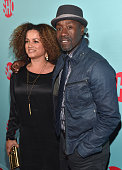 Bridgid Coulter and actor Don Cheadle arrives to Showtime's Celebration of AllNew Seasons Of 'Shameless' 'House Of Lies' And 'Episodes' at Cecconi's...