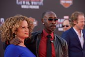 Bridgid Coulter and Actor Don Cheadle attend the Premiere Of Marvel's 'Captain America Civil War' on April 12 2016 in Hollywood California