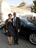 Bridgid Coulter and Don Cheadle arrive at BAFTA Brits To Watch Gala at the Belasco Theater on July 9 2011 in Los Angeles California