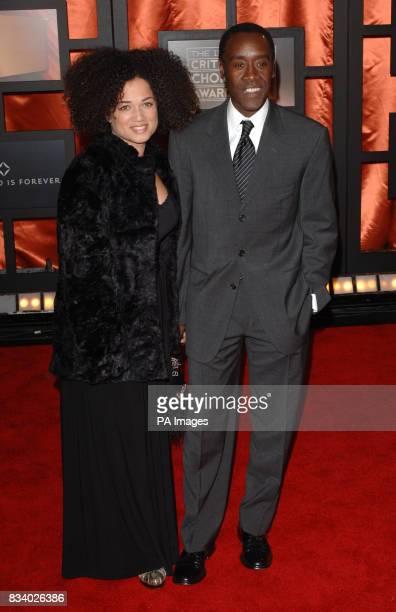 Bridgid Coulter and Don Cheadle arrive for the Critics' Choice Awards at the Santa Monica Civic Auditorium in Santa Monica California