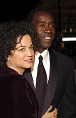 Bridgid Coulter and Don Cheadle during 'Ocean's Twelve' Los Angeles Premiere Red Carpet at Grauman's Chinese Theater in Los Angeles California United...