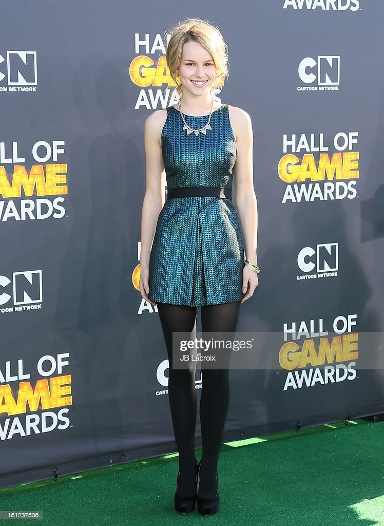 Bridgit Mendler attends the Third Annual Hall of Game Awards hosted by Cartoon Network at Barker Hangar on February 9, 2013 in Santa Monica, California.