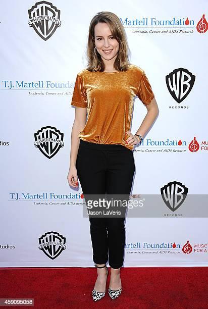 Bridgit Mendler attends the TJ Martell Foundation family day at CBS Studios on November 16 2014 in Studio City California