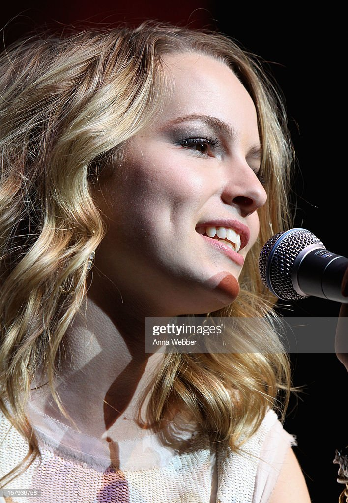 Bridgit Mendler performs at the Z100 Jingle Ball 2012 Viewing Party presented by SIMPLE Mobile at The Theater at Madison Square Garden on December 7, 2012 in New York City.