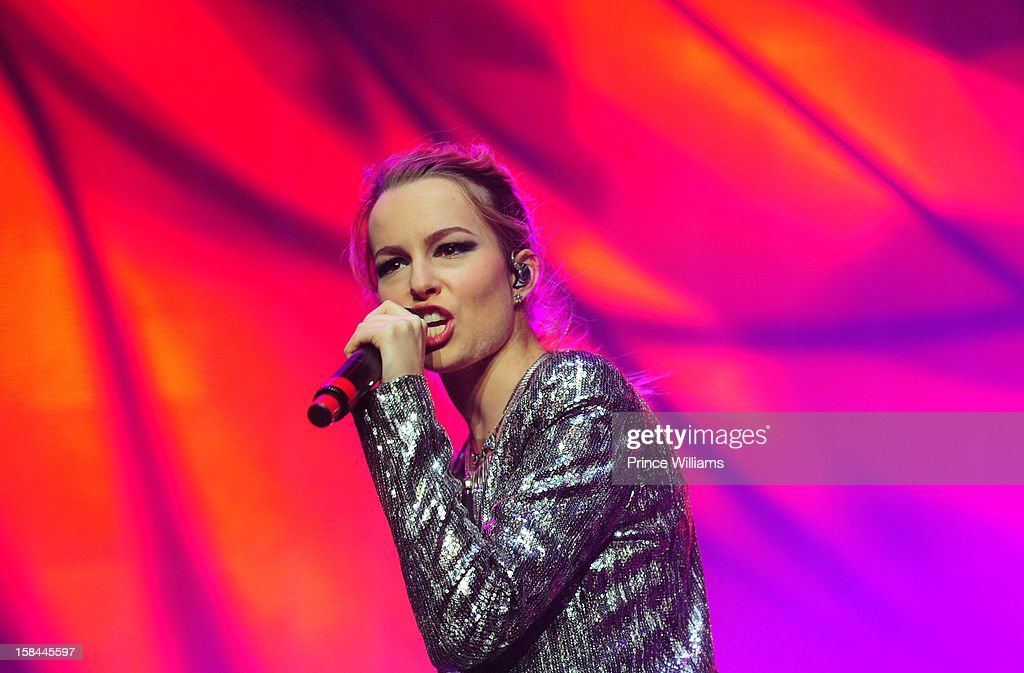 Bridgit Mendler performs during Power 96.1's Jingle Ball 2012 at Phillips Arena on December 12, 2012 in Atlanta, Georgia.