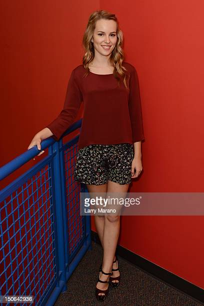 Bridgit Mendler visits Y 100 radio station on August 23 2012 in Miami Florida
