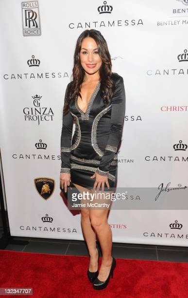 Brie Bella attends the Cantamessa Jewels US launch at Manhattan Motorcars Showroom on April 28 2011 in New York City