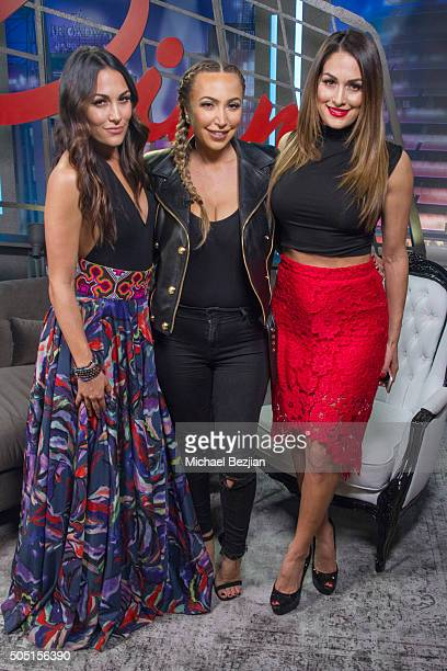 Brie Bella Diana Madison and Nikki Bella at The Lowdown on January 15 2016 in Hollywood California