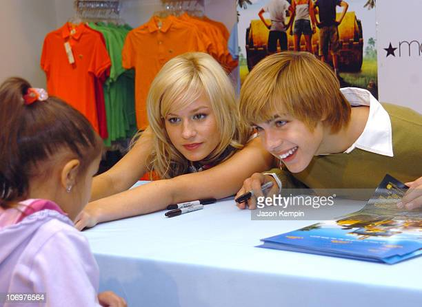 Brie Larson and Cody Linley during Brie Larson And Cody Linley From The Movie 'Hoot' Apearance At Macy's In New York City at Macy's in New York City...