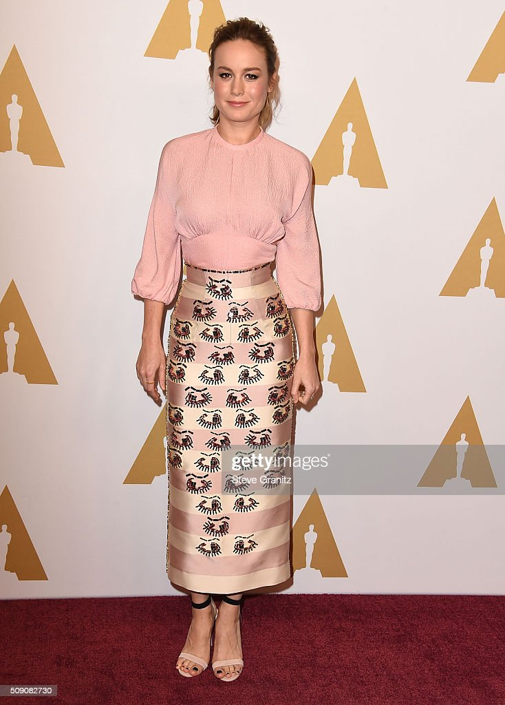 Brie Larson arrives at the 88th Annual Academy Awards Nominee Luncheon on February 8 2016 in Los Angeles California