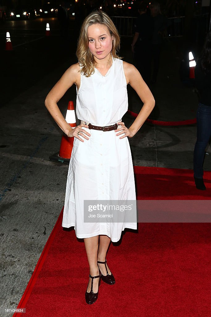 <a gi-track='captionPersonalityLinkClicked' href=/galleries/search?phrase=Brie+Larson&family=editorial&specificpeople=171226 ng-click='$event.stopPropagation()'>Brie Larson</a> arrives at the AFI FEST 2013 Presented By Audi - Los Angeles Times Young Hollywood Roundtable at TCL Chinese Theatre on November 8, 2013 in Hollywood, California.