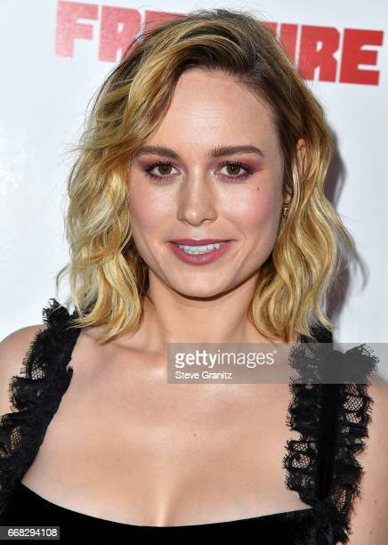 Brie Larson arrives at the Premiere Of A24's 'Free Fire' at ArcLight Hollywood on April 13 2017 in Hollywood California