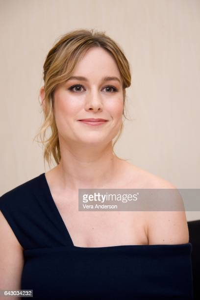 Brie Larson at the 'Kong Skull Island' Press Conference at the JW Marriott at LA Live on February 19 2017 in Los Angeles California