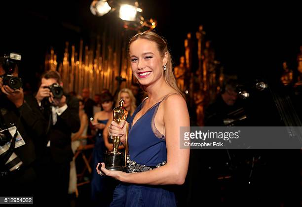 Brie Larson attend the 88th Annual Academy Awards at Dolby Theatre on February 28 2016 in Hollywood California